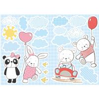 Kids Decor muurstickers grappige beren 20-delig