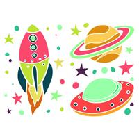 Kids Decor muurstickers Ufo 35-delig