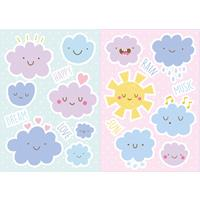 Kids Decor muurstickers wolken happy 19-delig