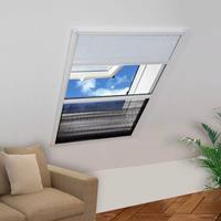 VidaXL Raamhor voor dakramen met zonnescherm pliss 160x110 cm
