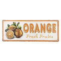 Clayre & Eef Tekstbord orange 40x15 cm