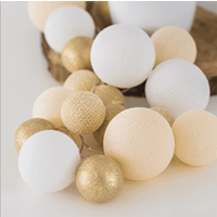 Cotton Ball Lights CBL-premium Touch of Gold