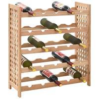 Wijnrek voor 25 flessen 63x25x73 cm massief walnotenhout