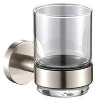 Plieger Bekerhouder Vigo met Glas RVS Brushed