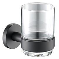 Plieger Bekerhouder Vigo met Glas Mat Zwart