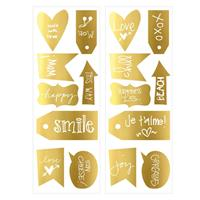 Art for the Home muurstickers Teksten - goud - 70x25 cm