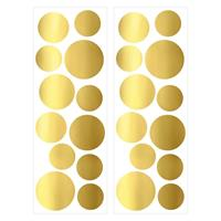 Art for the Home muurstickers Stippen - goud - 70x25 cm