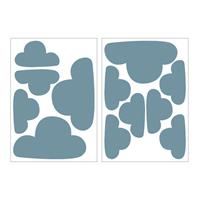Art for the Home muurstickers Wolken - blauw - 17,5x25 cm