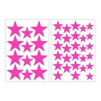 Art for the Home muurstickers Sterren - roze - 17,5x25 cm