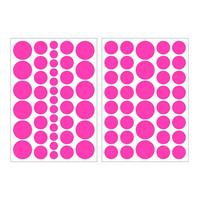 Art for the Home muurstickers Stippen - roze - 17,5x25 cm