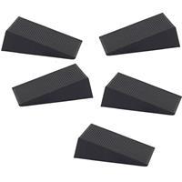 Deurstopper / Deurwig Rubber 16mm Zwart (5 stuks)