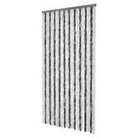 VidaXL vliegengordijn grijs/wit 100x220cm
