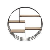 Beliani SANDIA Wandkast Licht houtkleur Gepoedercoat metaal
