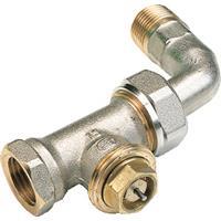 Vsh radiatorafsluiter uitvoering staartstuk/binnendraad recht met bocht thermostatisch voorbereid