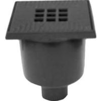 Neringbögel Nering Bögel vloerput met 1 aansluiting, zwart, uitwendige buisdiameter 75mm, ho 235mm