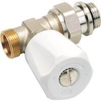Vsh radiatorafsluiter uitvoering staartstuk/buitendraad recht geschikt voor tweepijpssysteem