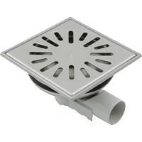 Aquaberg vloerput met 1 aansluiting uitwendige buisdiameter 50mm (hxb) 83x150mm vloerput roestvaststaal (RVS)