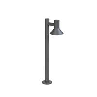 qazqa Moderne staande buitenlamp donkergrijs 65cm - Humilis