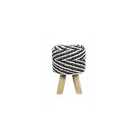 HSM Collection kruk Yara - raffia - zwart/wit