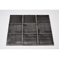Dtg Oud Hollands mozaïek wandtegel 13x13 donker grijs