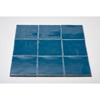 Dtg Oud Hollands mozaïek wandtegel 13x13 sea blue