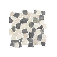 Terred'azur Mix White Grey natuursteen mozaiek 30x30