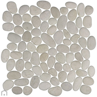 Terred'azur White timor kiezel mozaïek 30x30