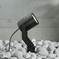Lampenwelt.com Zwarte LED buitenspot Maris met grondspies