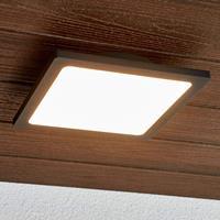 Lampenwelt.com LED buitenplafondlamp Mabella in donkergrijs