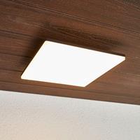 Lampenwelt.com Vierkante LED plafondlamp Henni voor buiten