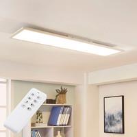 Lampenwelt.com Witte LED plafondlamp Lysander, dimbaar