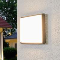 Lampenwelt.com Vierkante LED buiten plafondlamp Amra
