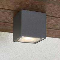 Lampenwelt.com Kubusvormige LED buiten plafondlamp Tanea, IP54