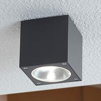 Lampenwelt.com Dobbelsteenvormige LED-buitenplafondlamp Lukas