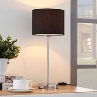 Lampenwelt.com Annatina - tafellamp met zwarte textiele kap