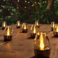 Lampenwelt.com Decoratieve LED solar tafellampen Pedas, 10 stuks
