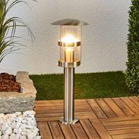 Lampenwelt.com Noemi - roestvrijstalen sokkellamp voor buiten