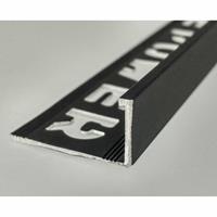 Tegelprofiel LYNOX 11x2700 mm Rechthoekig Gecoat Mat Zwart