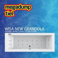 WISA New Grandola Whirlpool 180X80X60/65 cm Inclusief Led Buttons