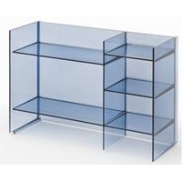 Laufen Kartell By  staand rek 75x26x53 cm. met 5 legplanken blauw