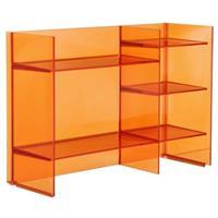Laufen Kartell By  staand rek 75x26x53 cm. met 5 legplanken oranje