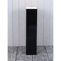 HO-Jeuken Sokkel met LED, zwart zijdeglans 90*25*25 cm.
