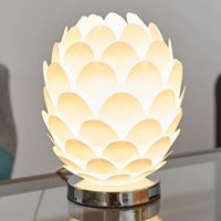 Lampenwelt.com Tafellamp Marees in wit, Ø 15 cm
