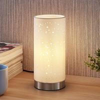 Lampenwelt.com Tafellamp Umma met kleine uitsparingen, wit