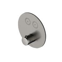 Hotbath Cobber Afbouwdeel thermostaat Rond met 2 push buttons Chroom PB009