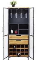 Kare Design Refugio Vitrinekast 2-Deurs - 60x40x156 - Vintage Metaal