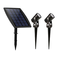 Slk Solar spot Twins met twee spots en los solarpaneel