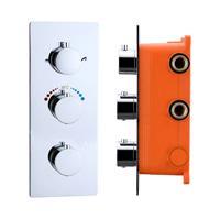 Inbouw Thermostaat Best Design Magna box 3 Weg 1/2 Ronde Knoppen Chroom