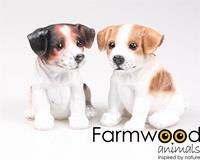 Eigen merk Hond Jack Russel puppy polystone 16cm