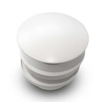 Brauer ColdStart Round afvoerplug mat wit (FineStone)